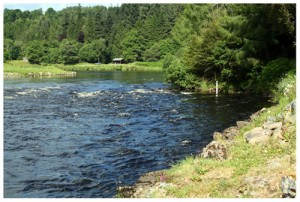 The Little Turn fishing pool, Wester Elchies, River Spey